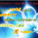 ぷーさん式 トレード講座 光~ひかり~の内容を曝露します!